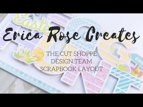Egg Hunt Scrapbook Layout | The Cut Shoppe Design Team