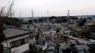 東汲沢小学校近くの高台からの眺め(横浜市戸塚区)