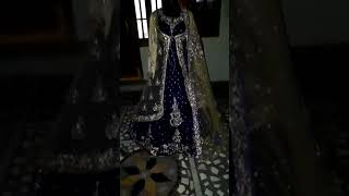 Blue bridal trail gown with jacket(1)