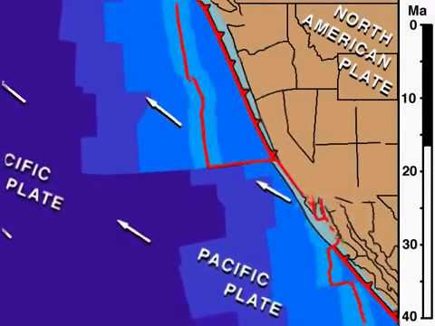Pacific North American Plate 38Ma to Present
