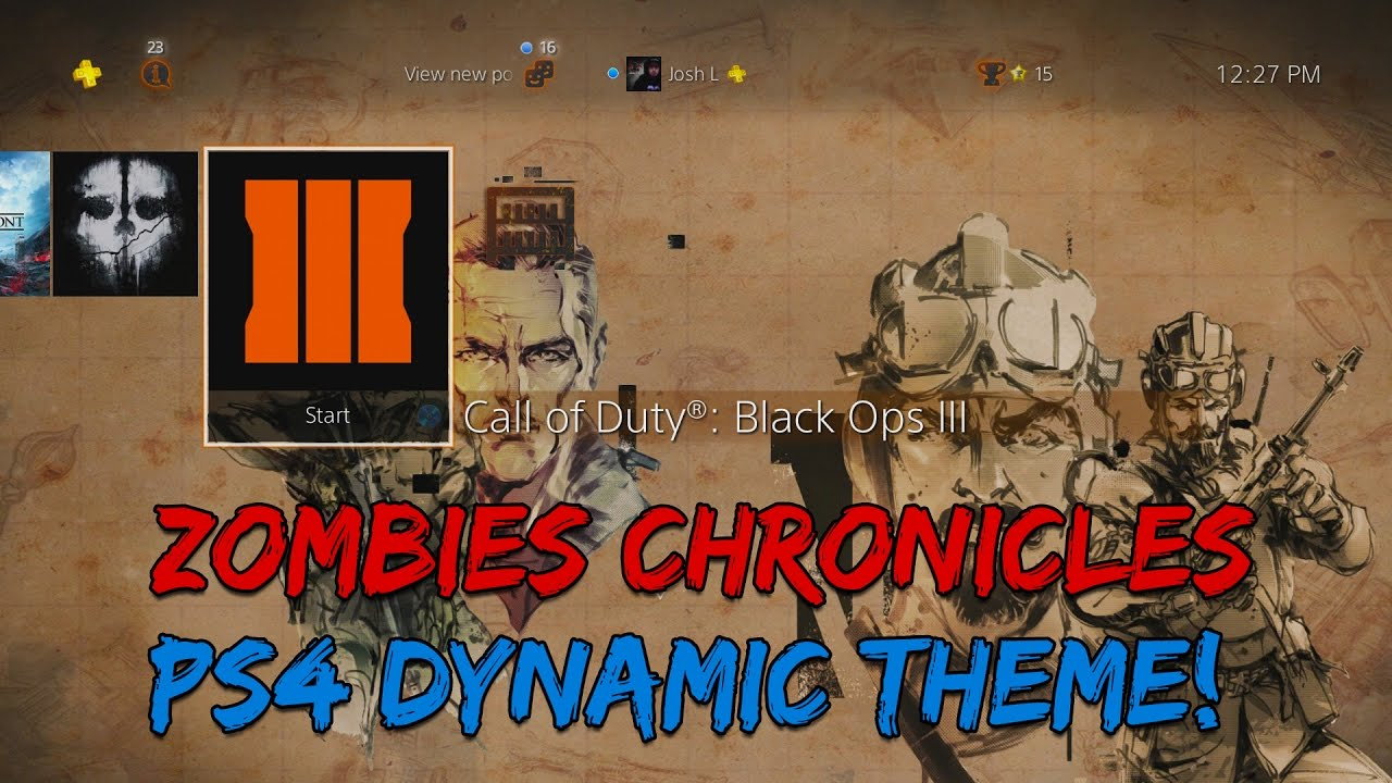 Black Ops 3 ZOMBIES CHRONICLES PS4 DYNAMIC THEME & How To Pre-Order!
