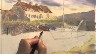 Watercolour Water Tutorial - Ripples at Porlock Weir (Part 2)