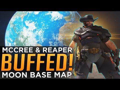 Overwatch McCree & Reaper BUFFED! - NEW Moon Map!!!