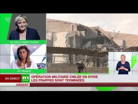 Frappes en Syrie : «Chaque président veut sa petite guerre», selon Marine Le Pen