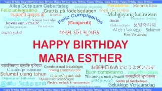 MariaEsther   Languages Idiomas - Happy Birthday