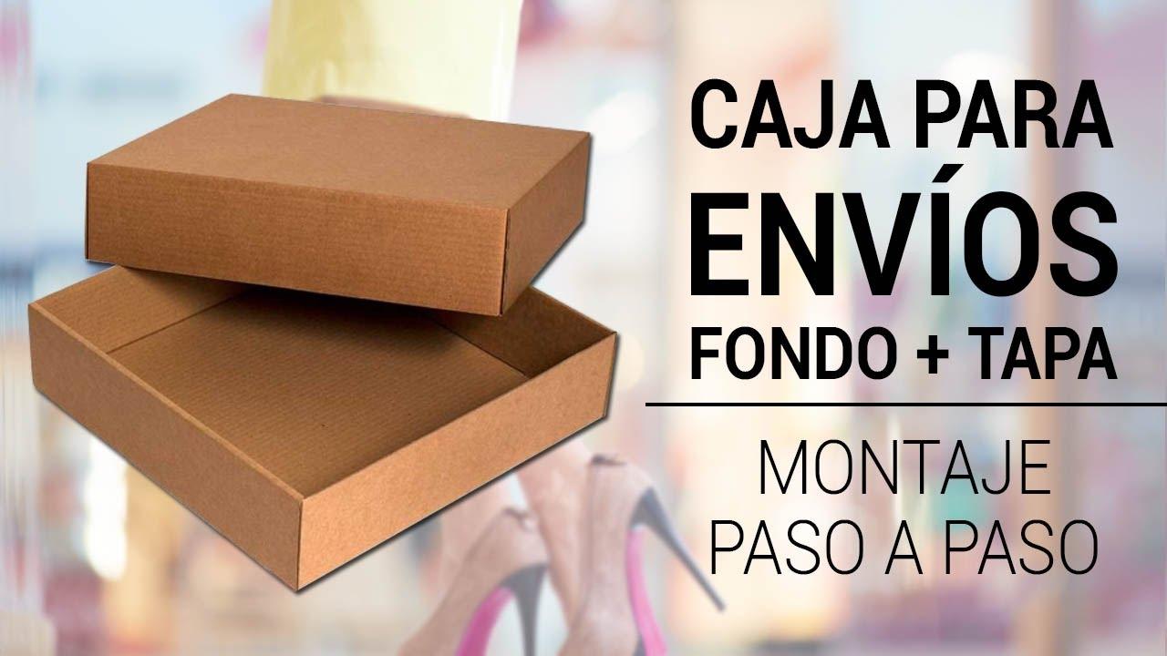 Caja Para Envíos 360x360x090mm Fondo Tapa Youtube