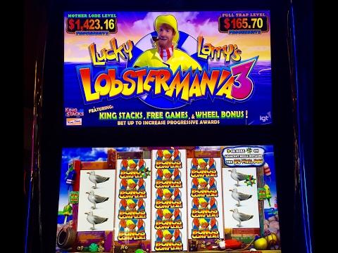 Great bonuses on Lobstermania 3 slot (nickels)! Love this game!