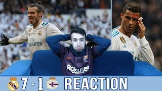 REAL MADRID BACK IN FORM? BALE & RONALDO SET UP A GOAL SHOW | MADRID 7-1 DEPORTIVO | REACTION