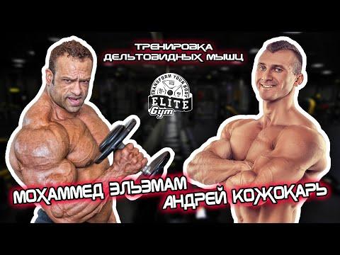 Андрей Кожокарь и Мохаммед ЭльЭмам. Тренировка дельтовидных мышц.