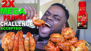 10 2x SPICY MEGA PRAWNS CHALLENGE IN 10 MINS (SEAFOOD BOIL MUKBANG) 먹방 | QUEEN BEAST IS GOING DOWN!
