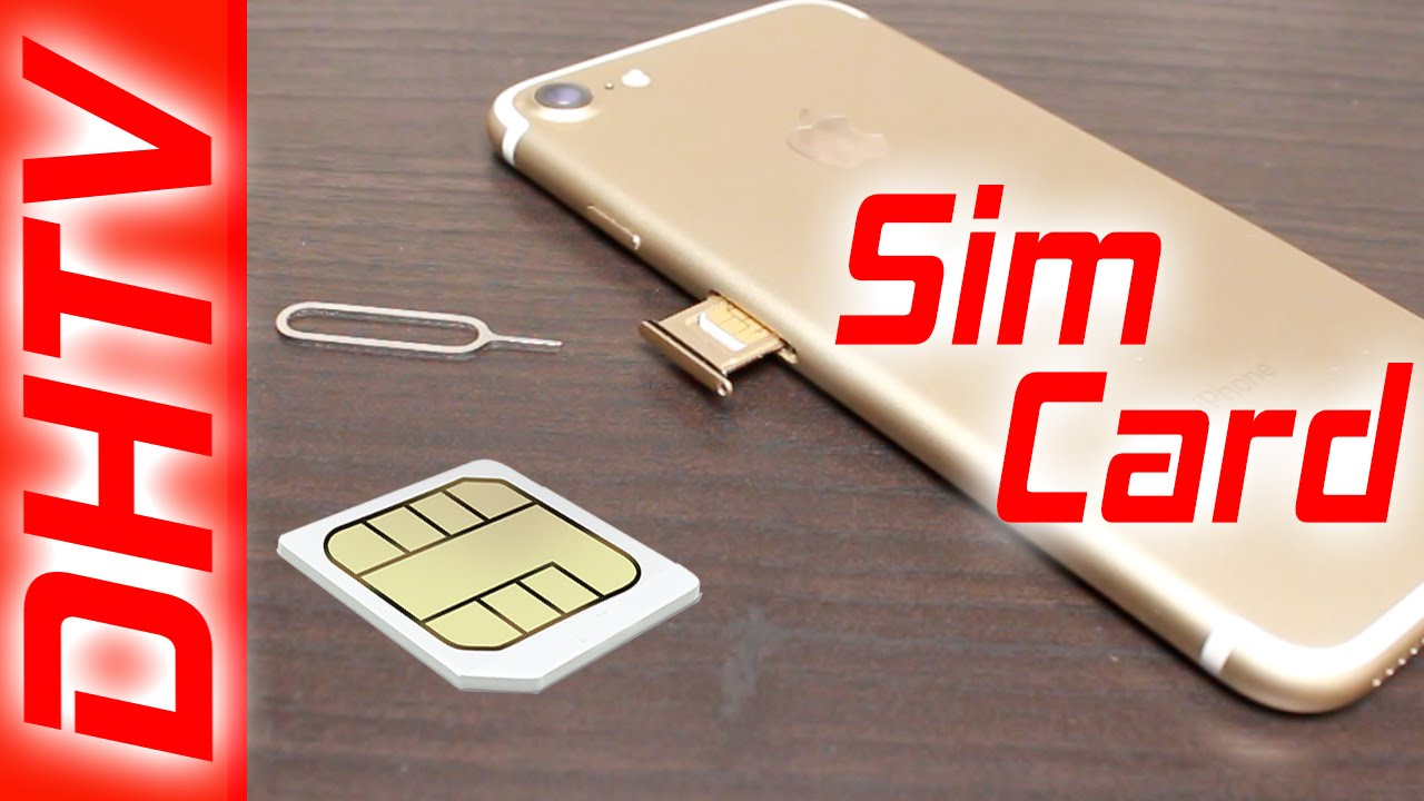 How To Insert/Remove Sim Card From iPhone 7 & iPhone 7 Plus - YouTube