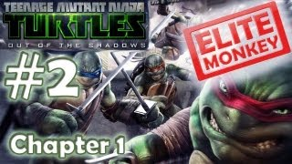 TMNT: Out of the Shadows - Walkthrough Part 2 - Chapter 1 [Commentary] [HD PC]