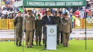 Przysięga terytorialsów w Ostrołęce