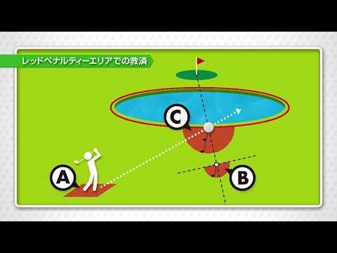 【ゴルフ新ルール】方法は3通り・レッドペナルティエリアでの救済