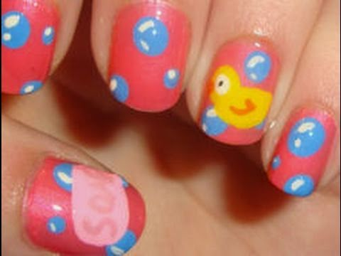 Rubber Ducky Bubble Bath Nails Youtube