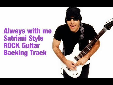 Satriani Style Always With me Guitar Backing Track in B 85 Bpm