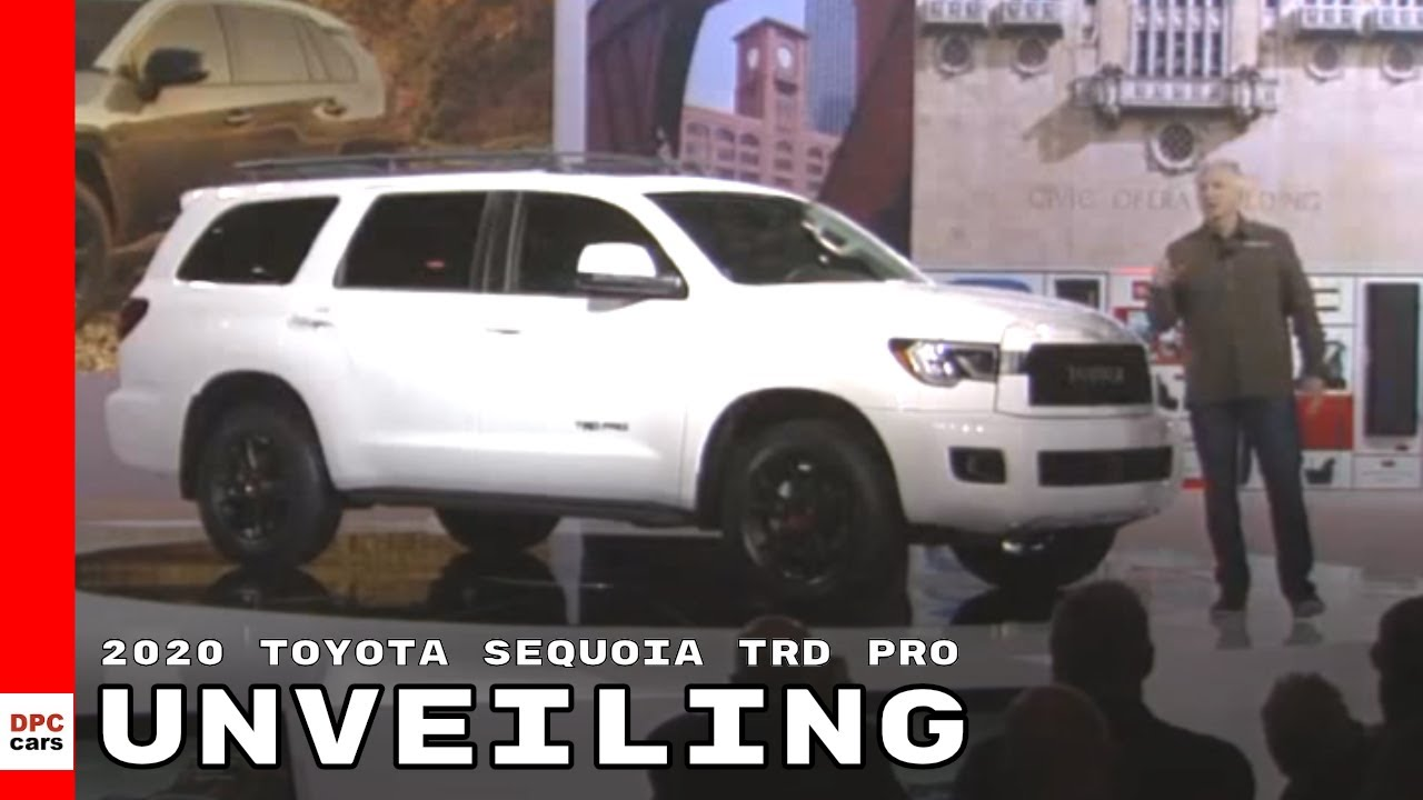 2020 Toyota Sequoia Redesign, Price & Release Date >> 2020 Toyota Sequoia Trd Pro Unveiling