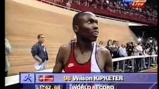 Atletik VM. 1997 (I) Paris Frankrig 800 m. (M) Wilson Kipketer DAN. 1.42,67 (VR) 09-03-1997.mpg