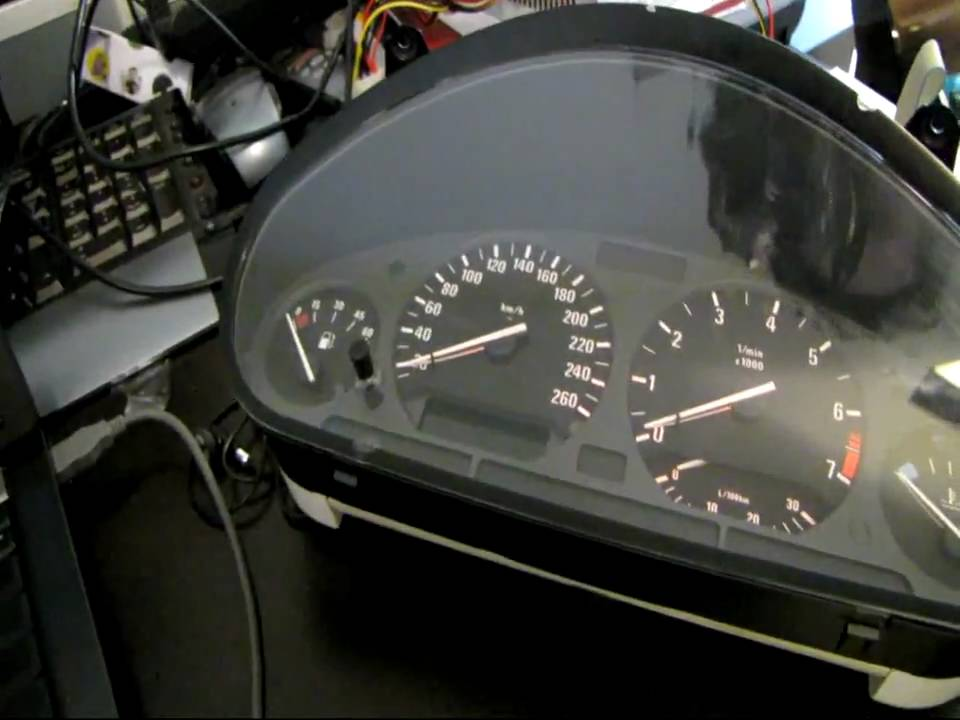 Bmw instrument cluster on pc via usb using arduino mega
