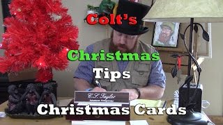 Colt's Christmas Tips - Card Writing