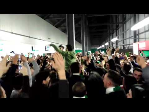 We are Hibs - Hibs Fans Feb 2017 during 3 -1 win over Hearts in Scottish cup