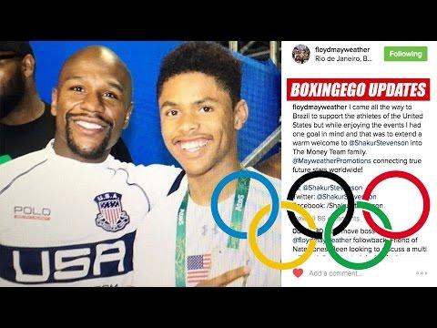 (BOMBSHELL) FLOYD MAYWEATHER SIGNS SHAKUR STEVENSON OLYMPIC GOLD HOPEFUL TO MAYWEATHER PROMOTIONS