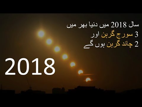 Sun and Moon Eclipses in 2018-World and Pakistan
