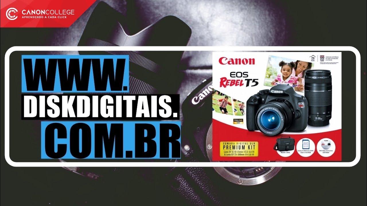 Câmera Canon T5 Kit Premium (EF-S 18-55 III / EF-S 55-250 IS II) + 16gb +  Bolsa