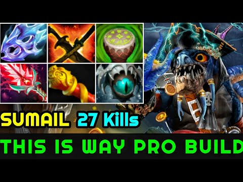 SumaiL [Slark] This is Way Pro Build Max Attack Speed Crazy Plays 7.23 Dota 2