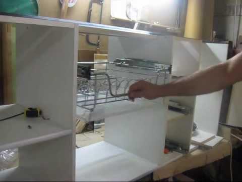 Установка сушилки для посуды в кухонный шкаф - YouTube