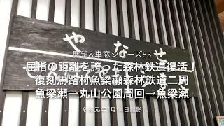 【4K展望車窓動画】屈指の森林鉄道の名残 馬路村森林鉄道丸山公園周回線