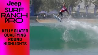 Kelly Slater Top Counted Waves In The Qualfying Round of Jeep Surf Ranch Pro HIGHLIGHTS