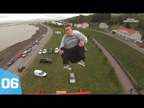 Giant Airbag Jumps From A Crane | Top 25 of 2017