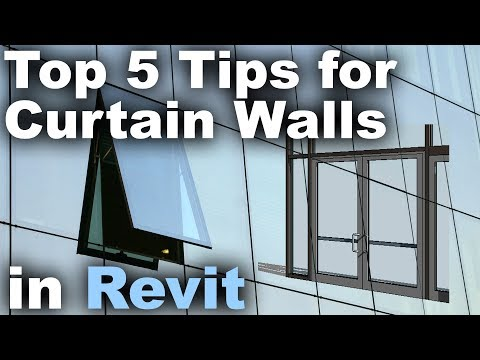 Top 5 Tips for Curtain Walls in Revit Tutorial