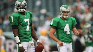 Michael Vick takes over for an injured Kevin Kolb   Packers vs Eagles W1 2010