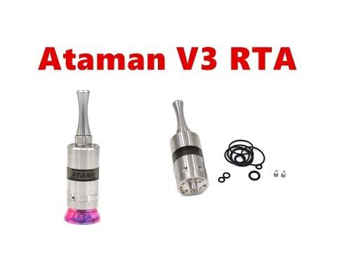 SS316 Ataman V3 Style RTA MTL Tank Atomizer From Wejoytech
