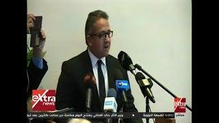 غرفة الأخبار | كلمة وزير الأثار خلال افتتاح مكتبة دير سانت كاترين