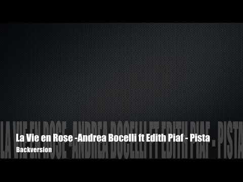 Karaoke - La Vie En Rose - Andrea Bocelli ft Edith Piaf - Pista