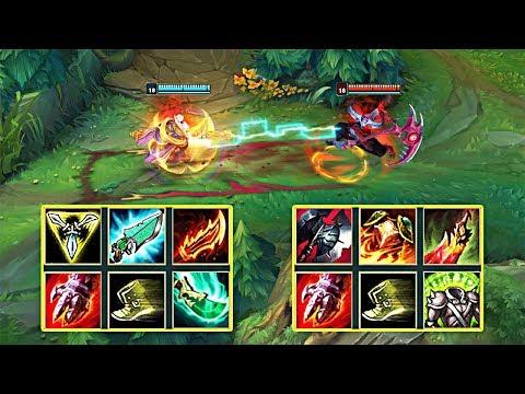 KAYN vs JAX FULL BUILD FIGHTS & Best Moments!
