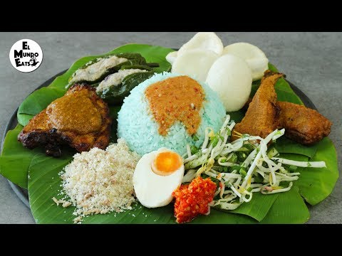 Blue Rice Salad (Nasi Kerabu)