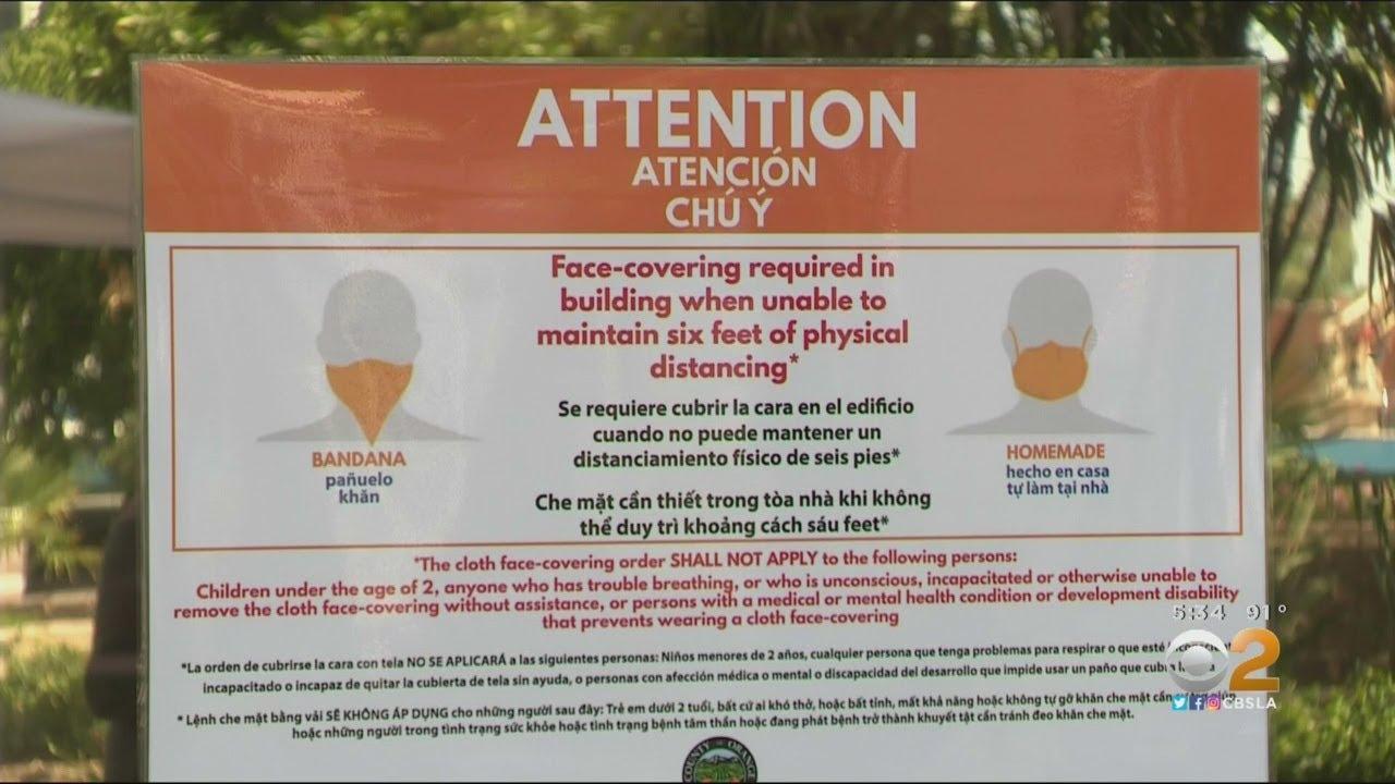 Gov. Newsom, OC Sheriff Clash Over Face Covering Enforcement