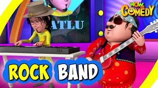 Motu Patlu- EP33A   Rock Band   Funny Videos For Kids   Wow Kidz Comedy