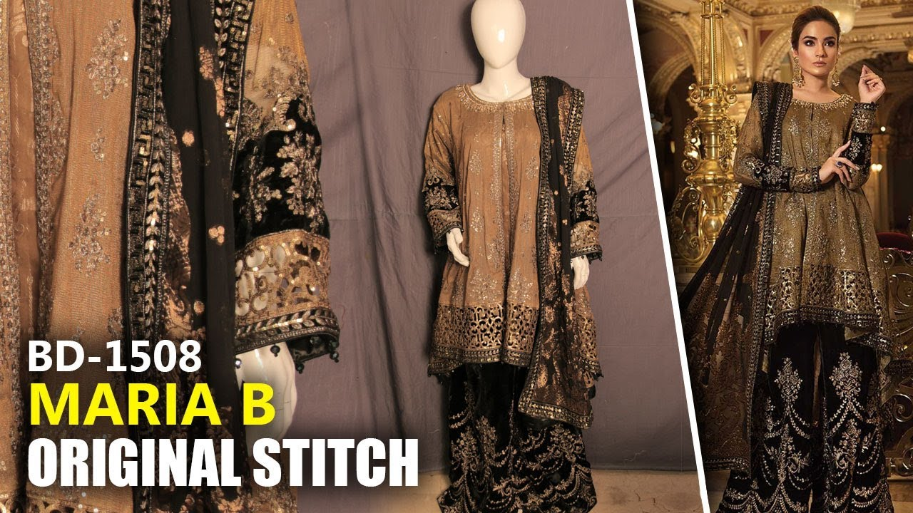 really cheap bright in luster buying new 👰 Maria B Wedding Collection 2019 - Stitched Oxidized Gold & Black BD08 -  Sara Clothes