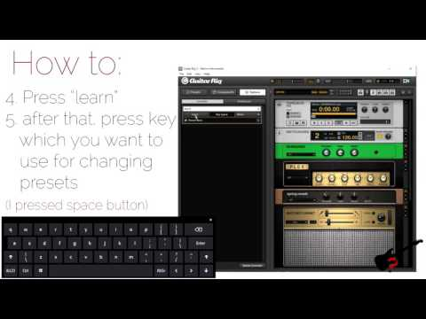 How to change preset in guitar rig using keyboard