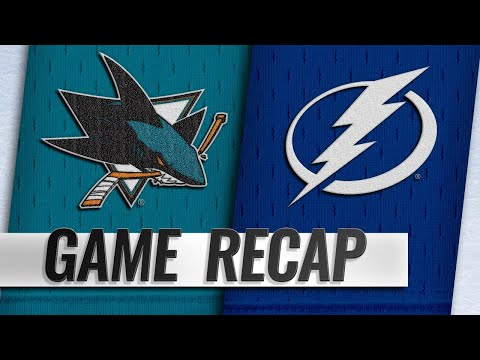 Stamkos scores twice as Lightning defeat Sharks, 6-3