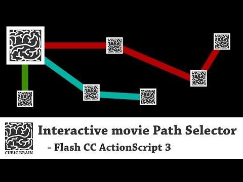 Flash CC AS3 - Interactive movie - Path Selector