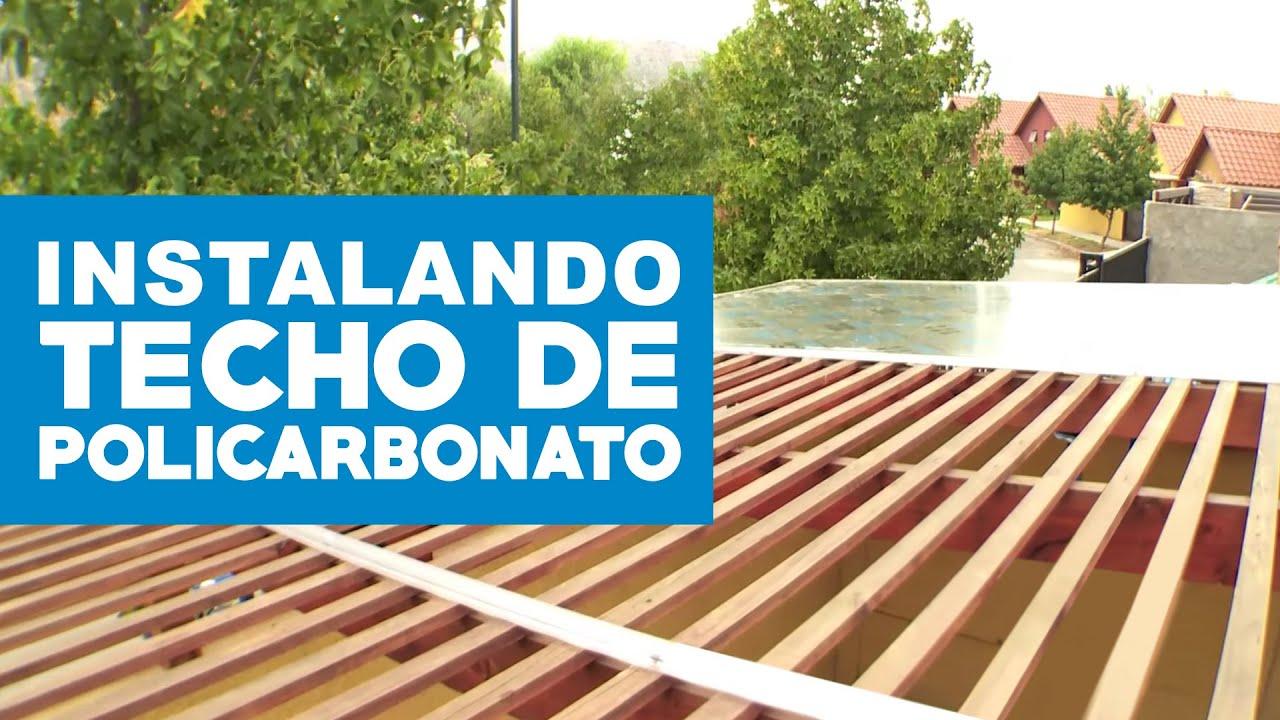 C mo instalar un techo de policarbonato youtube for Como poner chirok en el techo