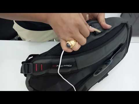 Anti Theft Backpack W Headphone Amp Usb Ports Doovi