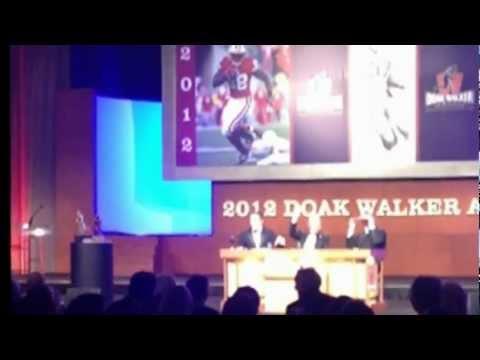 Doak Walker Awards Dallas TX w/ Jim Brown, Montee Ball, Chris Fowler, Lee Corso, and Kirk Herbstreit