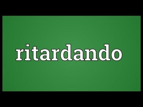 Header of ritardando